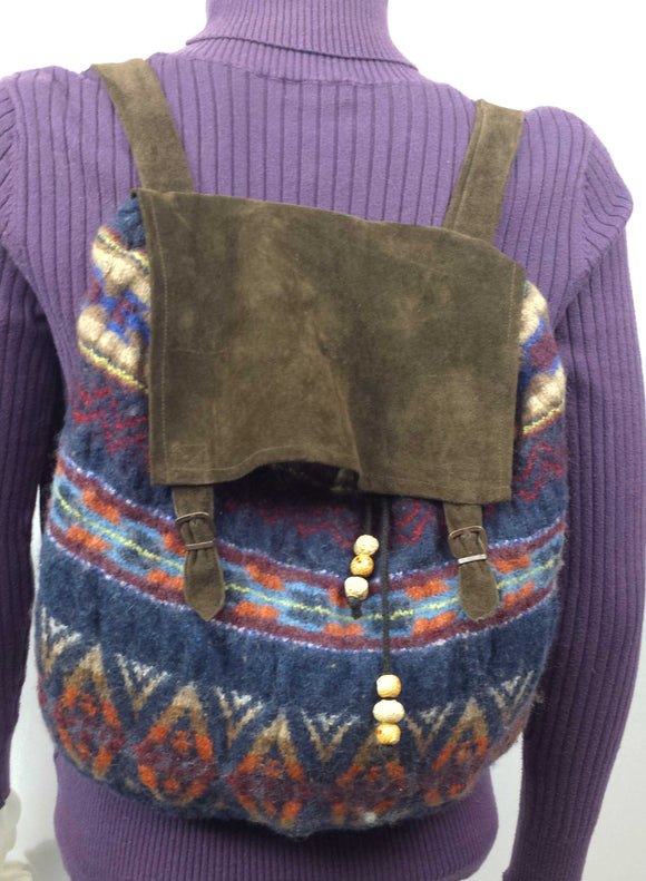 C114 Felted sweater backpack, SALE 20% off