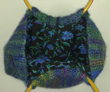 C107 Dark aqua felted purse, SALE 20% off