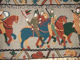 "Bayeux Tapestry Pattern on linen, 66""x20"""