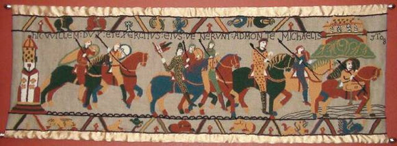 Bayeux Tapestry Pattern on linen, 66