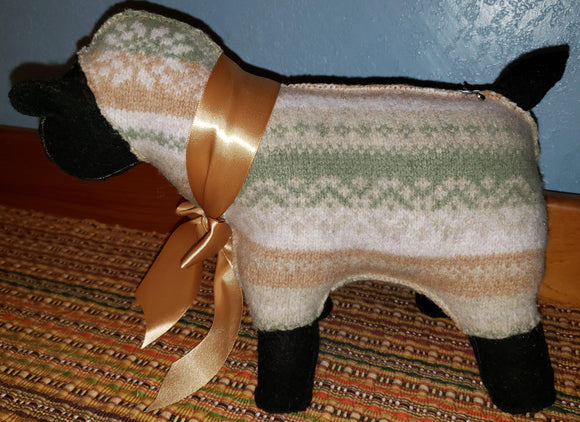E109 Stuffed Sheep, SALE 20 % off