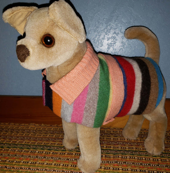 E113 Striped dog coat, SALE 20% off