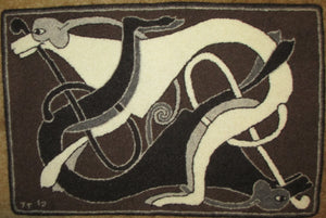 "Celtic Dogs Rug, 36.5""x24"""