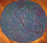 "Celtic Love Knot Rug, 46"" diameter"