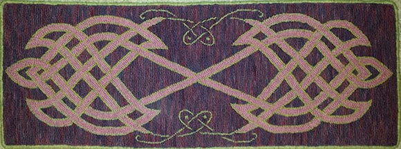 Celtic Table Runner Pattern on linen, 13