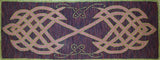 "Celtic Table Runner Pattern on linen, 13""x36"""