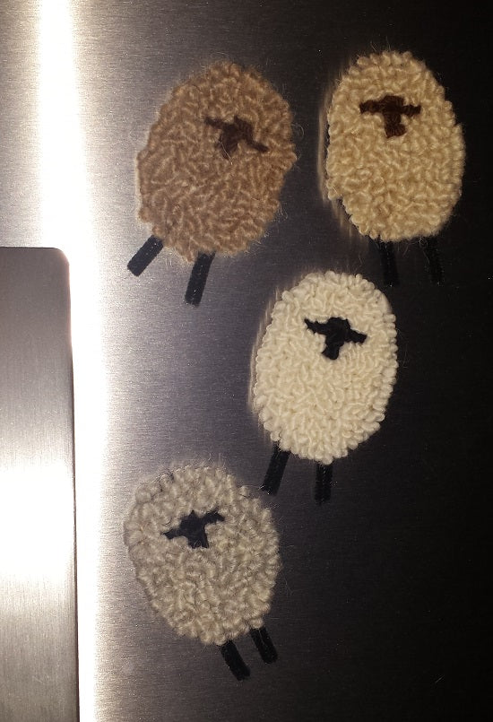 Sheep Ornaments/Magnets Kit, (set of 4-2