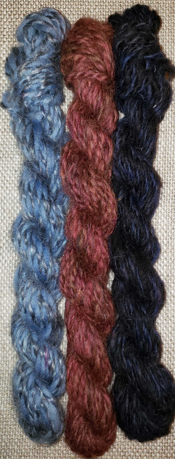 Yarn Sampler, Handspun Yarn