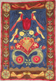 "Lovebirds Rug, 21.5""x30"""