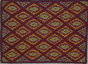 "Lucy Pattern on linen, 22.5""x31"""