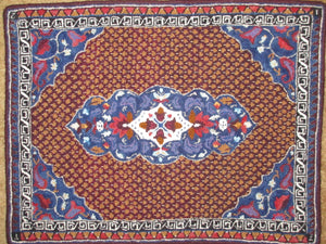 "Magic Carpet Pattern on linen, 35""x26"""
