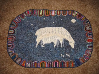 Night Nursing Pattern on linen, 35