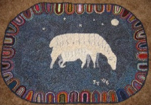 "Night Nursing Rug, 35""x24"""