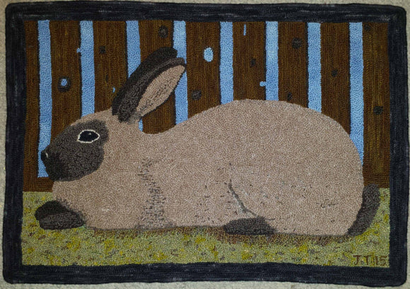 Rabbit Pattern on linen, 31.5