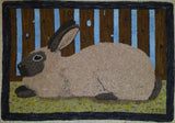 "Rabbit Pattern on linen, 31.5""x22.5"""