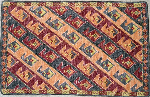 Turkish Delight Pattern on linen, 20.5