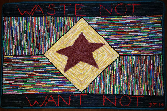 Waste Not Pattern on linen, 31
