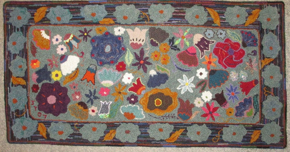 Wildflower Pattern on linen, 48