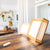 BrightBox wood light therapy lamp- two square light therapy lamps on table
