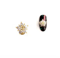 Peach Blossom Crystal-Embellished Rotating Nails Charm