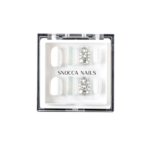 luxury press on nails white