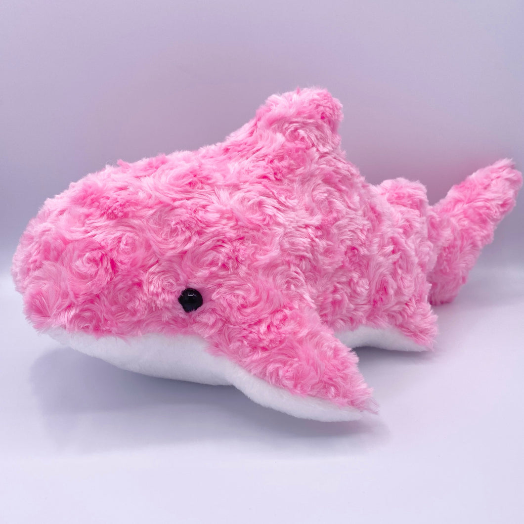 Large Fluffy Pink Shark