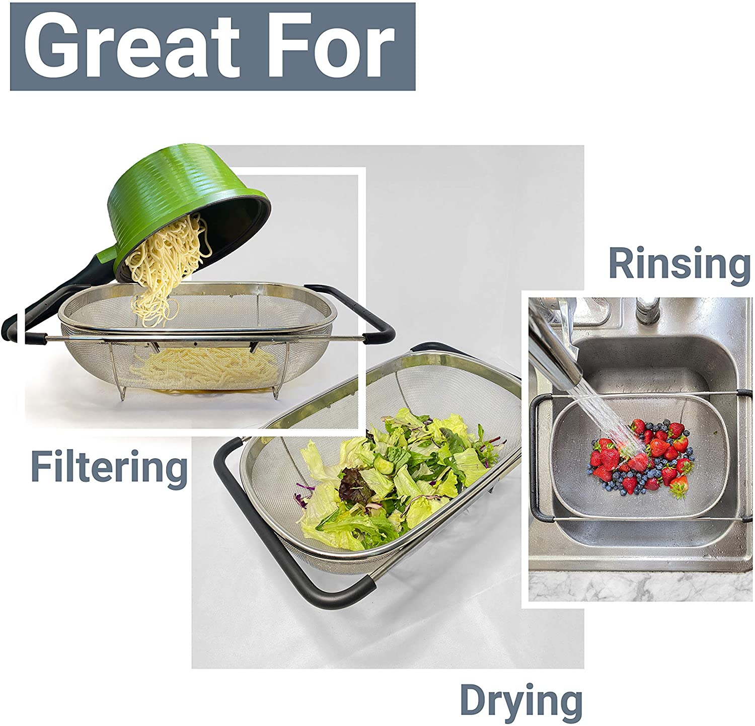 Stainless Steel Telescopic Drain Basket - BUY 2 FREE SHIPPING