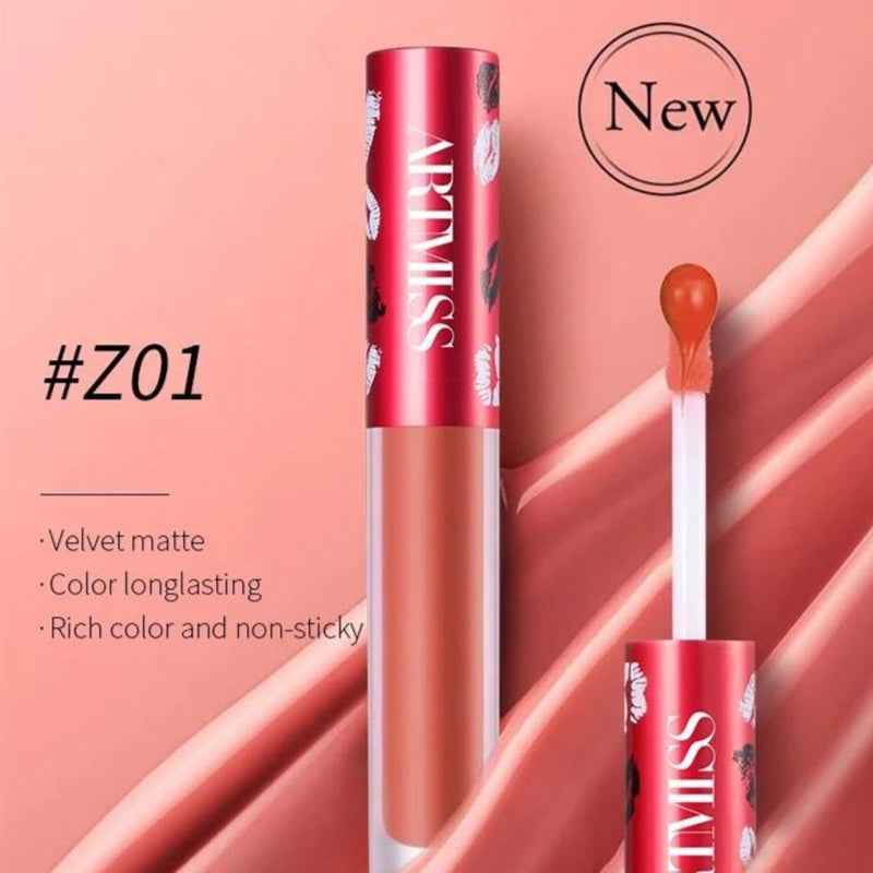 SUPER MOISTURIZING COLOR LASTING MATTE LIPGLOSS RED TONE
