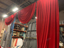 Load image into Gallery viewer, Red velvet fore-stage curtain