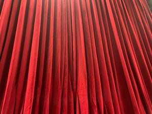 Red velvet fore-stage curtain