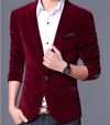 Velvet Blazer - Wine Red / XS - HIS.BOUTIQUE