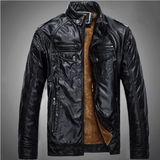 Excelled Synthetic Leather Jacket - Black / S- Jacket -HIS.BOUTIQUE