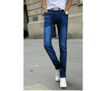 Casual Stretch Skinny Jeans - Blue / 27 - HIS.BOUTIQUE