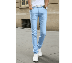 Casual Stretch Skinny Jeans - Sky Blue / 27 - HIS.BOUTIQUE