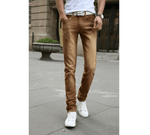 Casual Stretch Skinny Jeans - Brown / 27 - HIS.BOUTIQUE