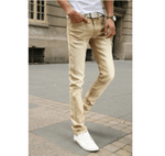 Casual Stretch Skinny Jeans - Khaki / 27 - HIS.BOUTIQUE