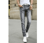 Casual Stretch Skinny Jeans - Silver / 27 - HIS.BOUTIQUE