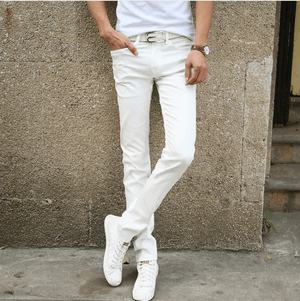 Casual Stretch Skinny Jeans - White / 27 - HIS.BOUTIQUE