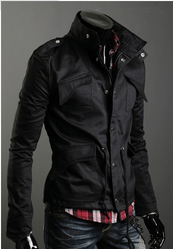 Military Style Jacket - - HIS.BOUTIQUE f49974a1f56