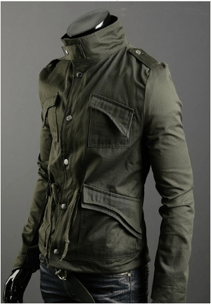 Military Style Jacket - - Jacket -HIS.BOUTIQUE