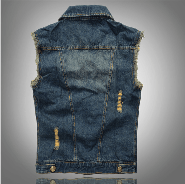 Men's Denim Vest - - Vest -HIS.BOUTIQUE