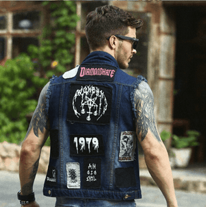 Cowboy Frayed Denim Vest -  - HIS.BOUTIQUE