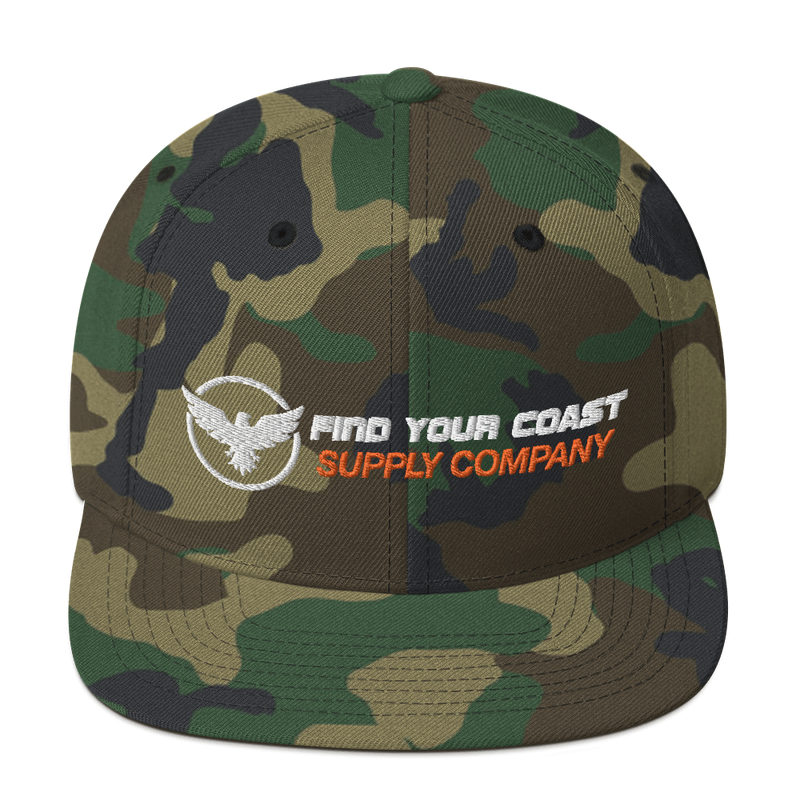 Find Your Coast Supply Company Snapback Hat - Green Camo - HIS.BOUTIQUE