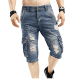 Cargo Short Jeans - Blue3 / 29- Pants -HIS.BOUTIQUE