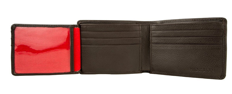 Hidesign Angle Stitch Leather Multi-Compartment Leather Wallet -  - HIS.BOUTIQUE