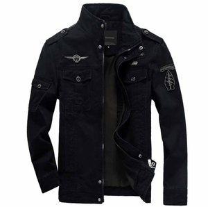 Air Force Military Jacket - Black / S- Jacket -HIS.BOUTIQUE