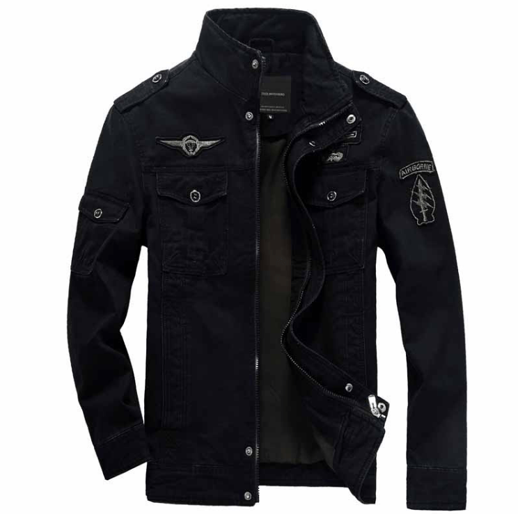 Air Force Military Jacket - Black / S - HIS.BOUTIQUE