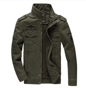 Air Force Military Jacket - Army Green / S- Jacket -HIS.BOUTIQUE