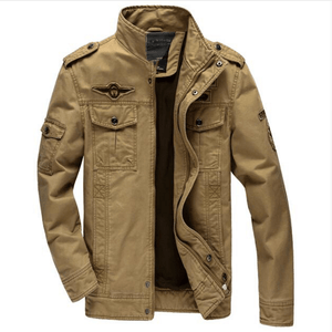 Air Force Military Jacket - Khaki / S - HIS.BOUTIQUE