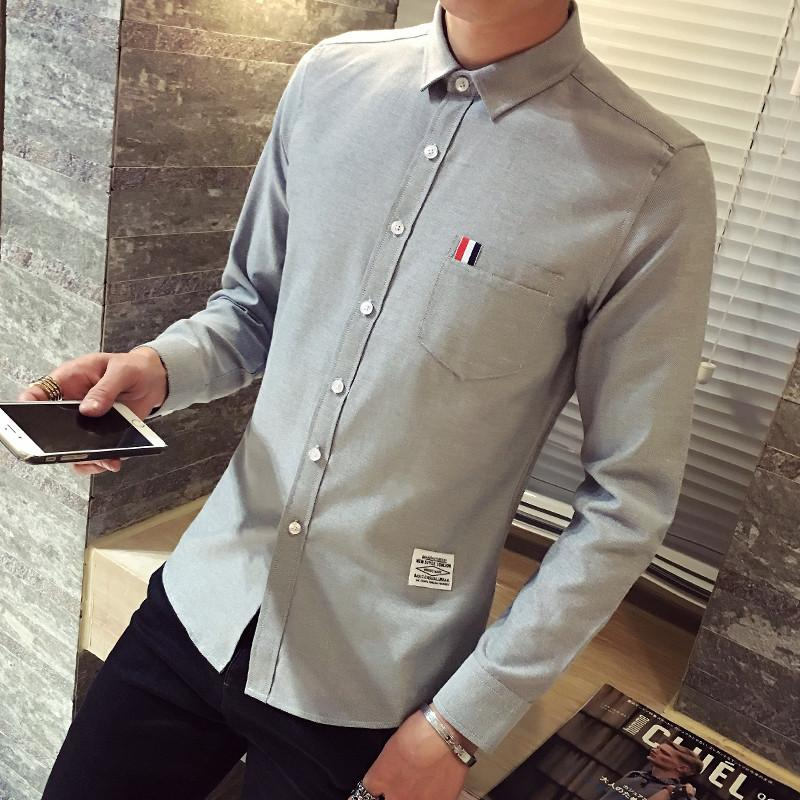The Oxford Shirt - S / Gray - HIS.BOUTIQUE